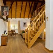 Wohnraum mit Empore im Fürstenzimmer Alexandrina – Schloss Wissen