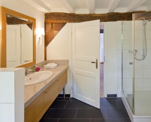 Badezimmer im Fürstenzimmer Alexandrina – Schloss Wissen