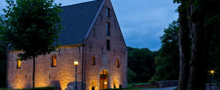 Abendstimmung an der Historischen Wassermühle von Schloss Wissen