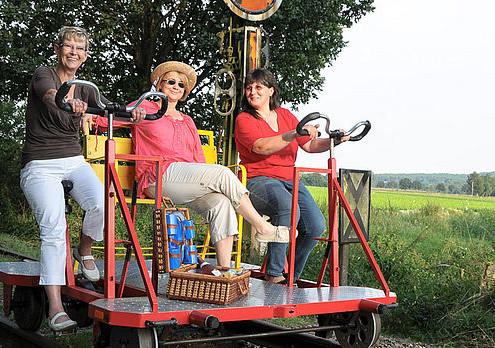 Teamevent mit Draisinen-Tour von Kleve nach Kranenburg