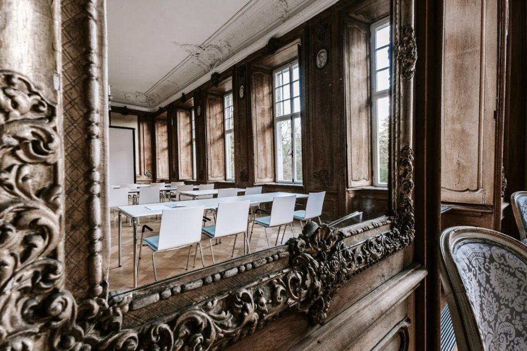 Tagungshotel Schloss Wissen – Großes Esszimmer für bis zu 120 Personen