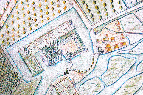Historische Karte Schloss Wissente