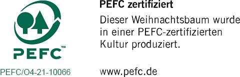 PEFC Zertifiziert Logo Weihnachtsbäume
