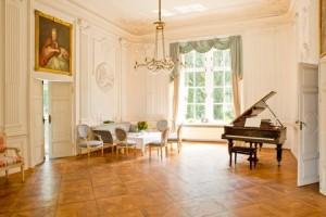 Weißer Salon für Firmenfeste auf Schloss Wissen