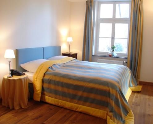 Schlafzimmer im Fürstenzimmer Sophia – Schloss Wissen