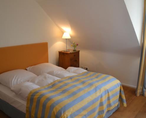 Schlafzimmer im Fürstenzimmer Tante Wirtz – Schloss Wissen