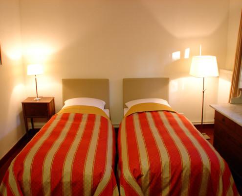 Schlafzimmer im Königszimmer Walter – Schloss Wissen